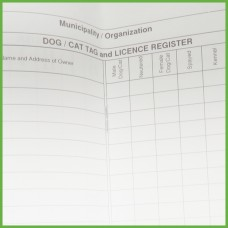 Item 0233 - Dog tag and licence register