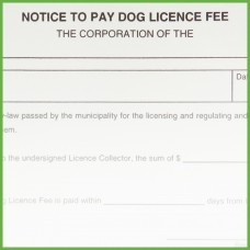 Item 0234 - Notice to pay dog licence fee