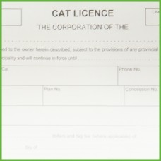 Item 0235 - Cat licence receipt book