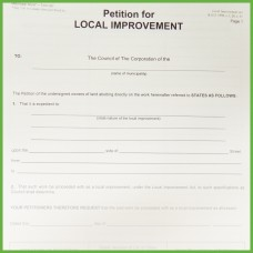 Item 0267 - Petition for local improvement - 2 page form
