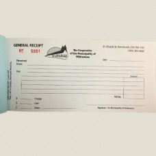 Item 0437 - Custom Print -  General receipt book - 50 in duplicate