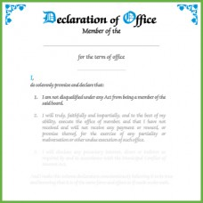 Item 0813 - Declaration of office - individual member board