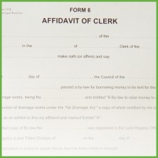 Item 1115 - Affidavit of Clerk - Form 6