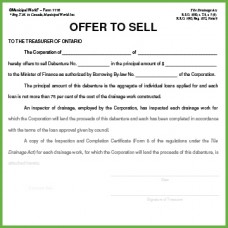 Item 1118 - Offer to Sell - Form 9