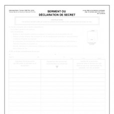Item 1200F - Serment ou déclaration de secret