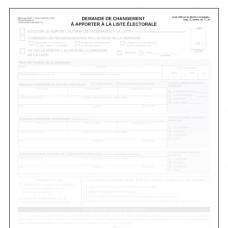 Item 1203F - Demande de changement à apporter à la liste électorale