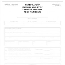 Item 1206 - Certificate of maximum amount of campaign expenses as of filing date