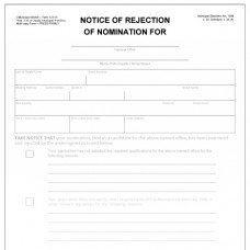 Item 1211/1 - Notice of rejection of nomination - candidate