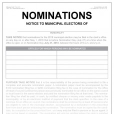 Item 1212 - Nomination notice to municipal electors - poster