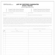 Item 1215 - List of certified candidates - school board member