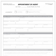 Item 1219 - Appointment of Agent