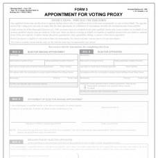 Item 1220 - Appointment of voting proxy - Form 3