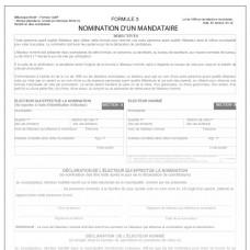 Item 1220F - Nomination d'un mandataire - Formulaire 3