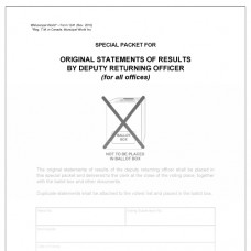Item 1241 - Envelope - special packet for original statements of results
