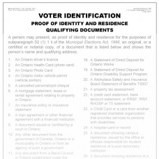 Item 1243 - Voter Identification poster