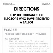 Item 1245 - Directions for the guidance of voters who have received a ballot (poster)