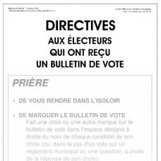 Item 1245F - Directives aux électeurs qui ont reçu un bulletin de vote (affiche)
