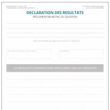 Item 1249F - Déclaration des résultats - règlement municipal ou question