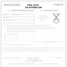 Item 1272 - Final oath or affirmation of deputy returning officer or election official