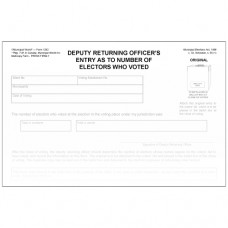 Item 1282 - Deputy returning officer's entry as to number of electors voted