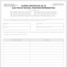 Item 1302 - Clerk's certificate as to election of school board member