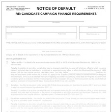Item 1440/1 - Notice of default - Candidate