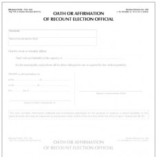 Item 1464 - Oath or affirmation of recount election official