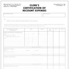 Item 1468 - Clerk's certification of recount expenses