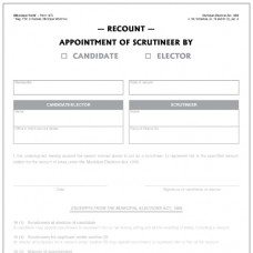 Item 1470 - Appointment of scrutineer by candidate or elector for recount