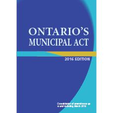 Ontario's Municipal Act, 2016 Edition - Item 0010