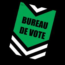 Item 1236F - Bureau de vote (affiche)