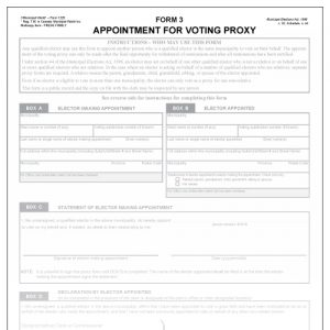 Appointment of voting proxy - Form 3 - Municipal World Form 1220