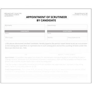 Nomination de représentant par candidat