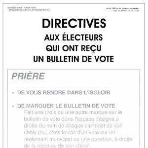 Directives aux électeurs qui ont reçu un bulletin de vote (affiche) Form 1245/f