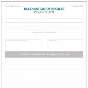 Declaration of Results Municipal World form 1249