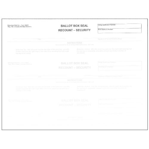 Security Ballot box seal for sealing ballot box during recount item 1262/2