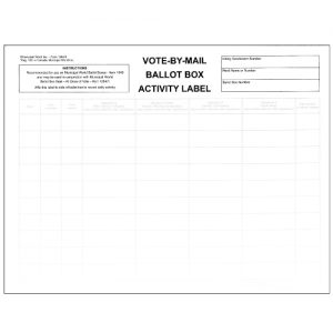 Vote by Mail Ballot box activity label item 1264/3