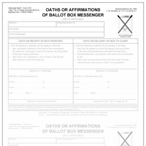 Oath or affirmation of ballot box messenger