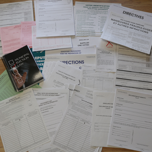 Ontario Voting Forms Kit French forms included