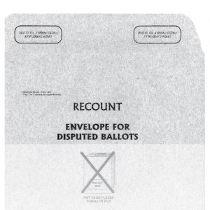 Recount envelope for disputed ballots Municipal World Item 1460