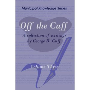 Off the Cuff Volume Three by George B. Cuff - Cover