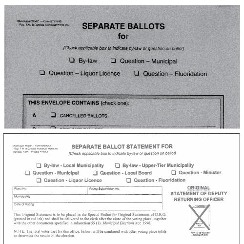 Statement and Envelopes Kit - Separate Ballot Item Sten/4