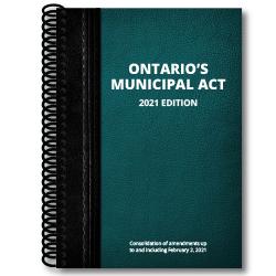 Ontario Municipal Act 2021 cover