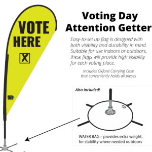 High-Visibility Voting Place Flags
