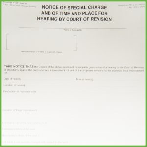 Item 0266 - Notice of special assessment ... (cont'd) - Form 4