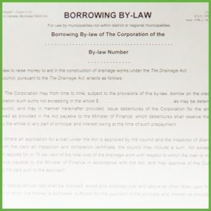 Item 1110 - Borrowing By-Law