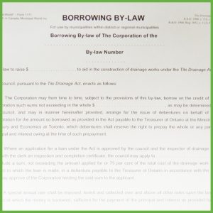 Item 1111 - Borrowing By-Law - Form 2