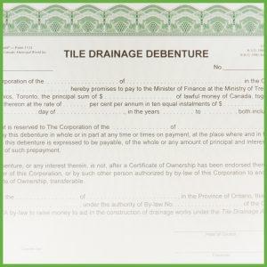 Item 1113 - Tile Drainage Debenture - Form 4