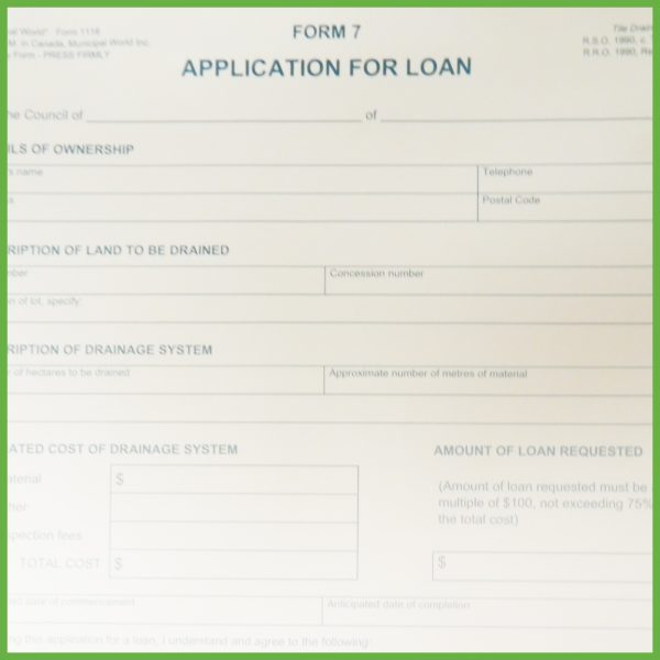Item 1116 - Application for Loan