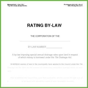 Item 1120 - Rating By-Law - Form 11